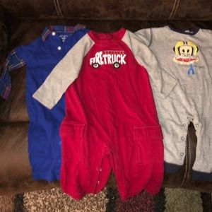 Baby Boys Sz 6-12M lot of 3 Outfits - One Pc